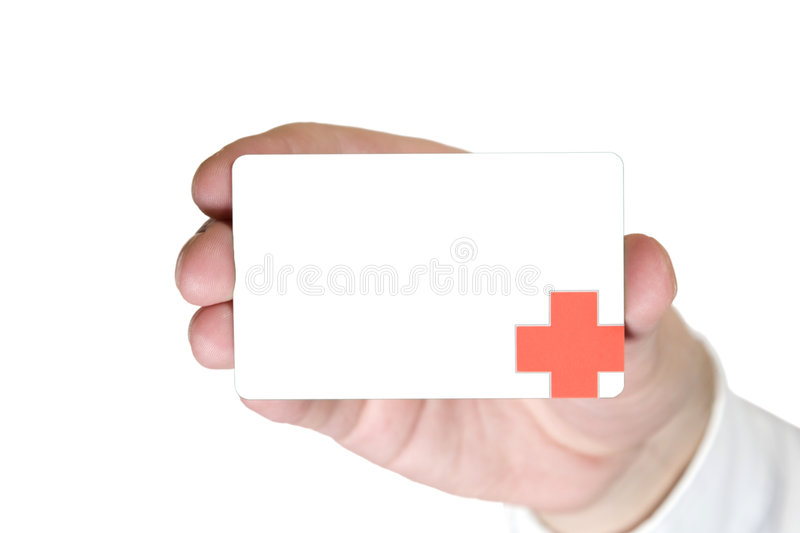 Doctor Business Card stock image