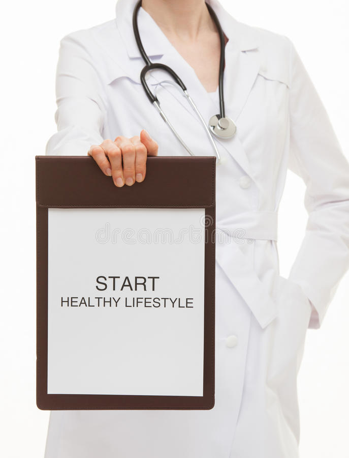 Doctor calling to healthy lifestyle royalty free stock photos
