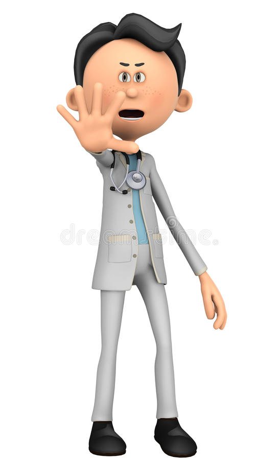 Doctor cartoon hey stop there. Doctor cartoon to illustrate your medical graphic work vector illustration