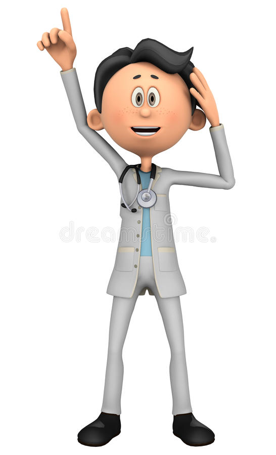 Doctor cartoon I have one idea. Doctor cartoon to illustrate your medical graphic work royalty free illustration