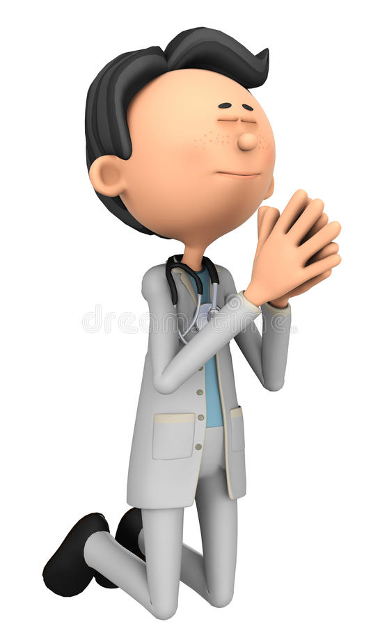Doctor cartoon prying. Doctor cartoon to illustrate your medical graphic work royalty free illustration