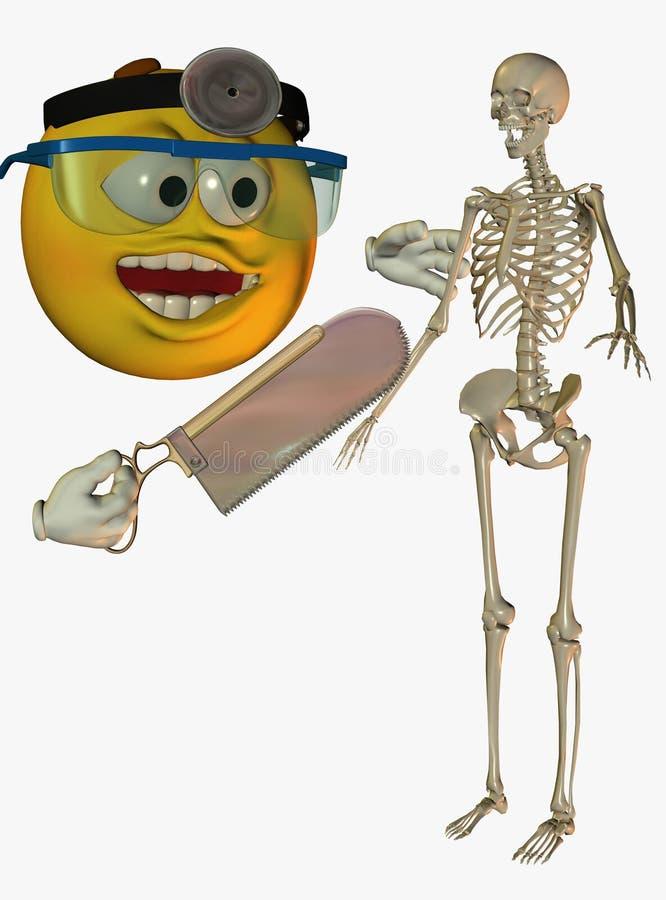 Download Doctor Cartoon And Skeleton Stock Illustration - Illustration: 13087485