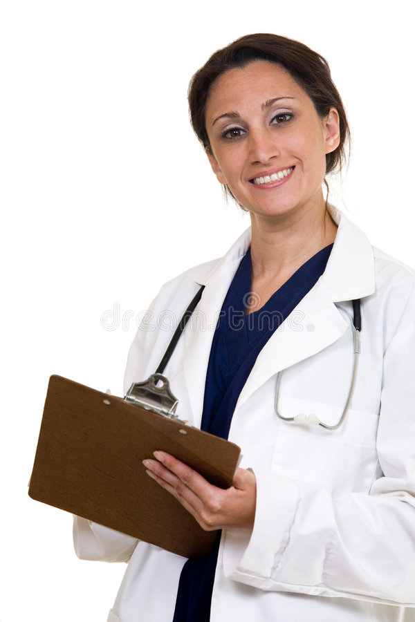 Doctor charting stock photo
