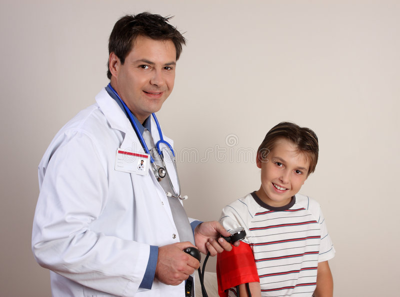 Download Doctor Checking Blood Pressure Stock Image - Image: 4206303