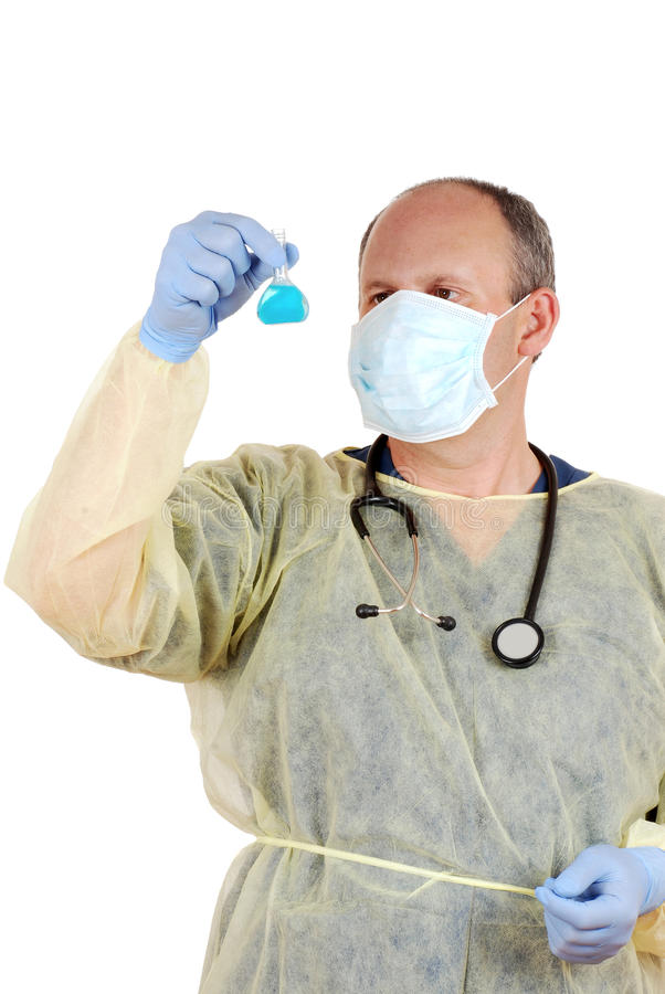 Download Doctor Checking Laboratory Specimen Stock Photo - Image of gown, occupation: 25161632