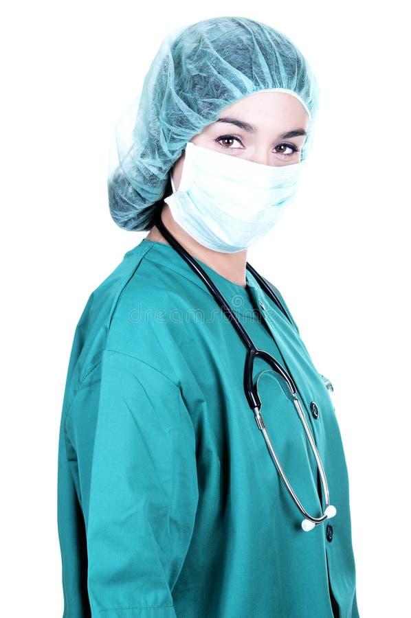 Doctor/cirujano jovenes con el estetoscopio imagen de archivo libre de regalías