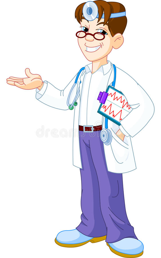 Doctor with clipboard vector illustration