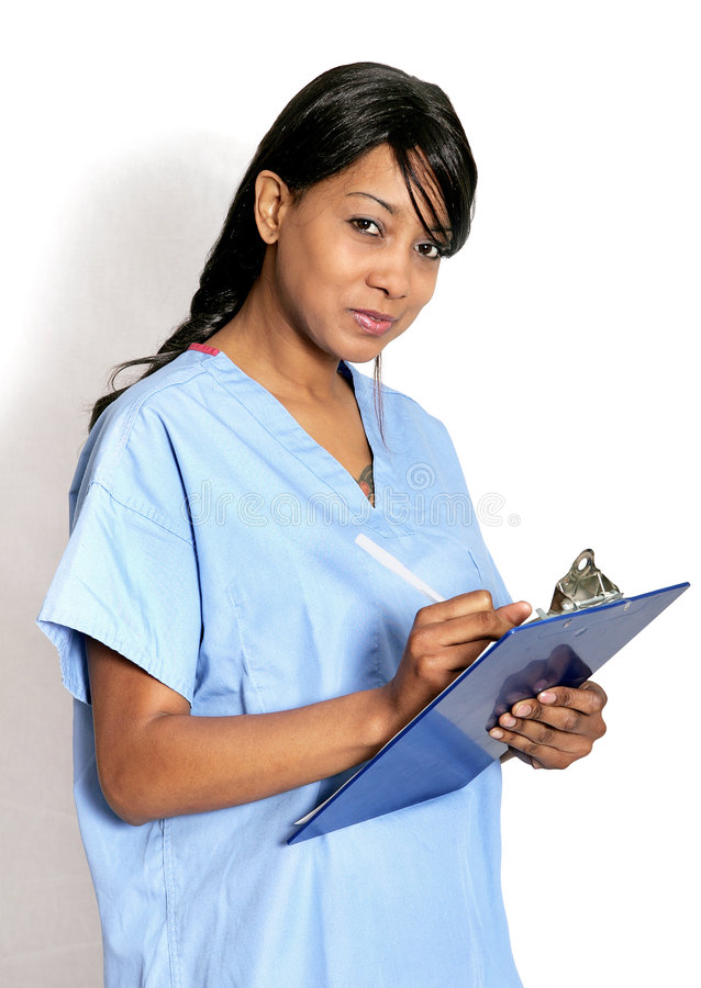 Doctor with clipboard stock images