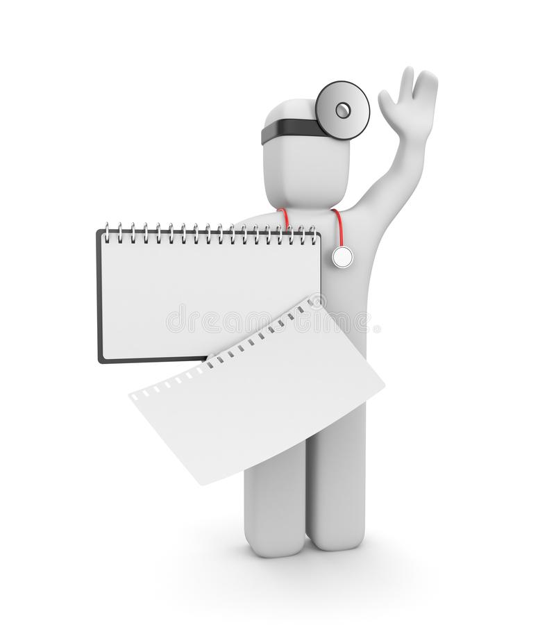 Doctor with clipboard stock illustration