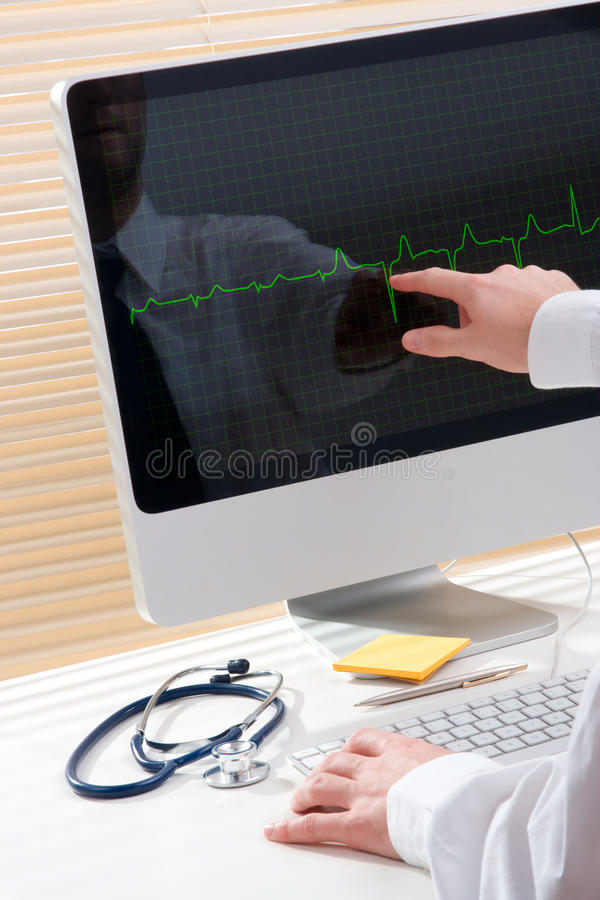 Download Doctor with computer stock image. Image of exam, nurse - 18259309