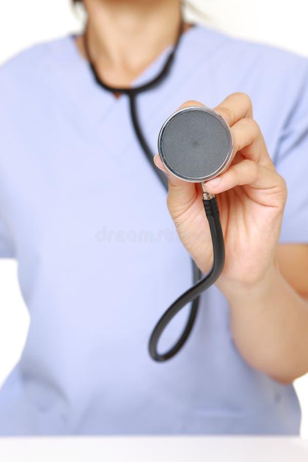 Doctor con el estetoscopio fotografía de archivo