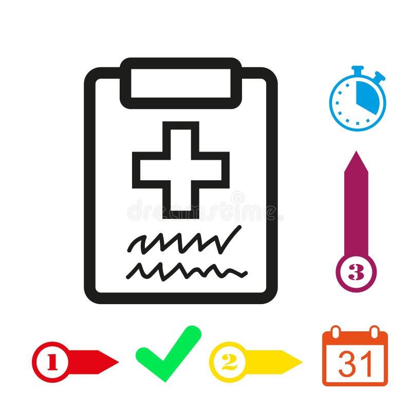 Doctor Con El Tablero Tablero Con Diseño Plano Del Ejemplo Del ...