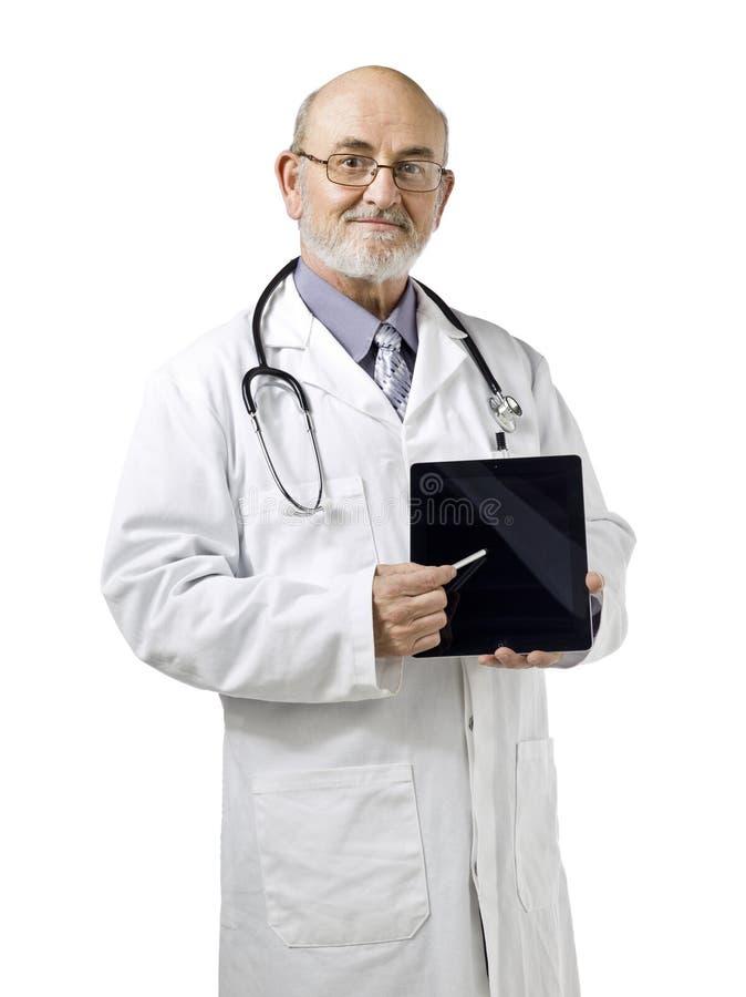 Doctor con la almohadilla táctil fotografía de archivo libre de regalías
