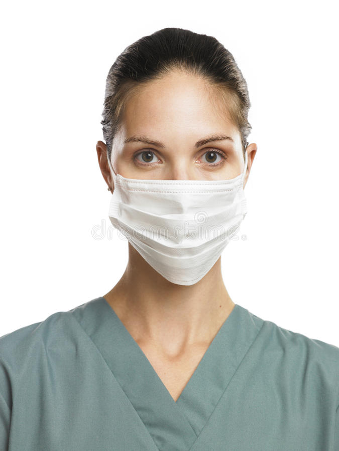 Doctor con la máscara fotos de archivo