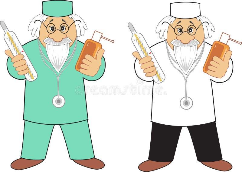 Doctor con la medicina stock de ilustración