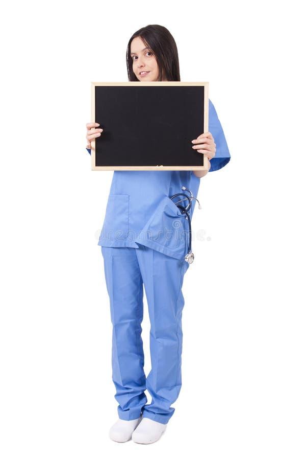 Doctor con la pizarra imagen de archivo libre de regalías