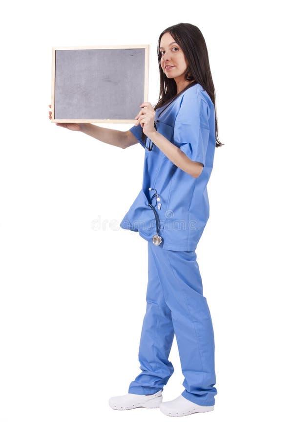 Doctor con la pizarra foto de archivo