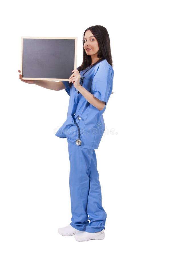Doctor con la pizarra foto de archivo libre de regalías