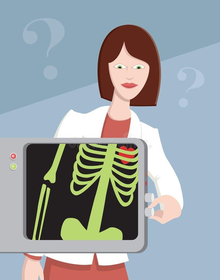 Doctor con la radiografía ilustración del vector