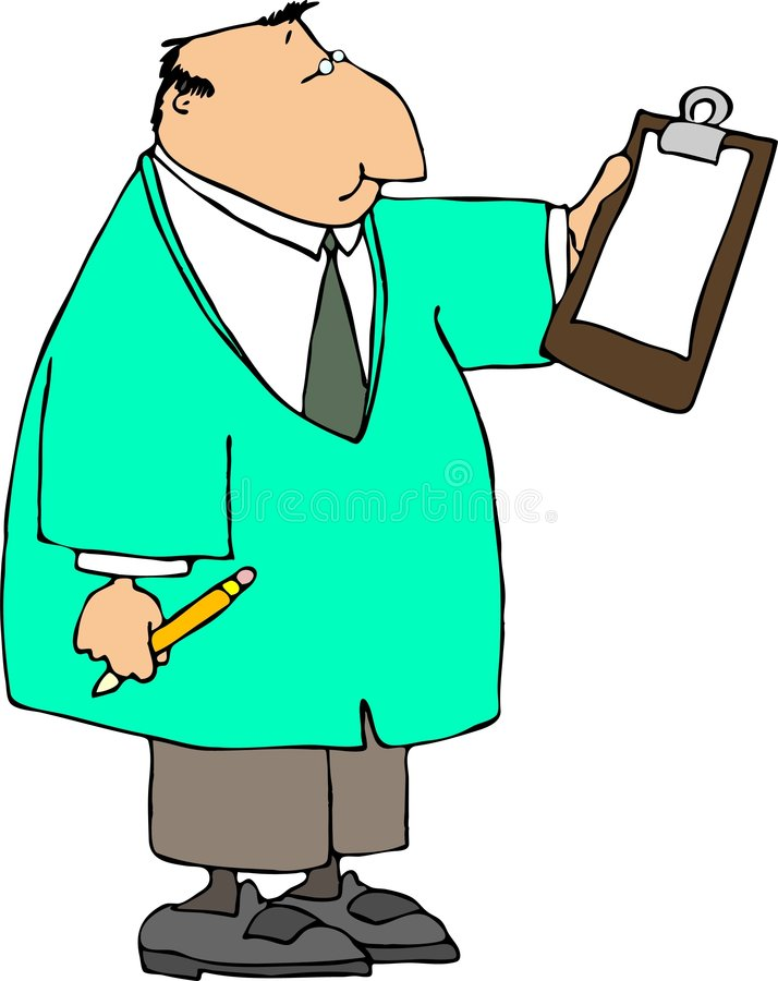 Doctor con un sujetapapeles libre illustration