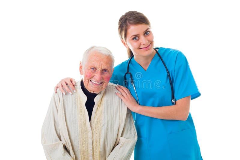Doctor confiado y paciente feliz fotos de archivo libres de regalías
