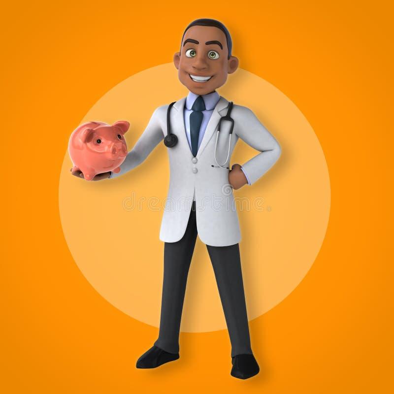 Doctor de la diversión stock de ilustración