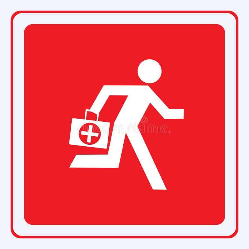 Doctor de la emergencia stock de ilustración