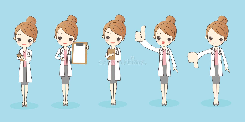 Doctor de la mujer de la historieta libre illustration