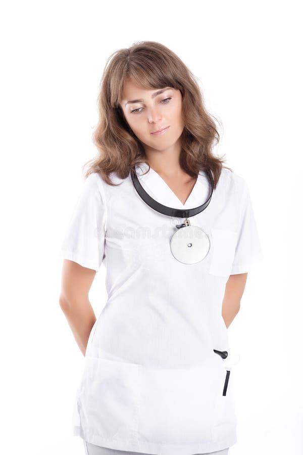 Doctor de la mujer ENT fotografía de archivo libre de regalías