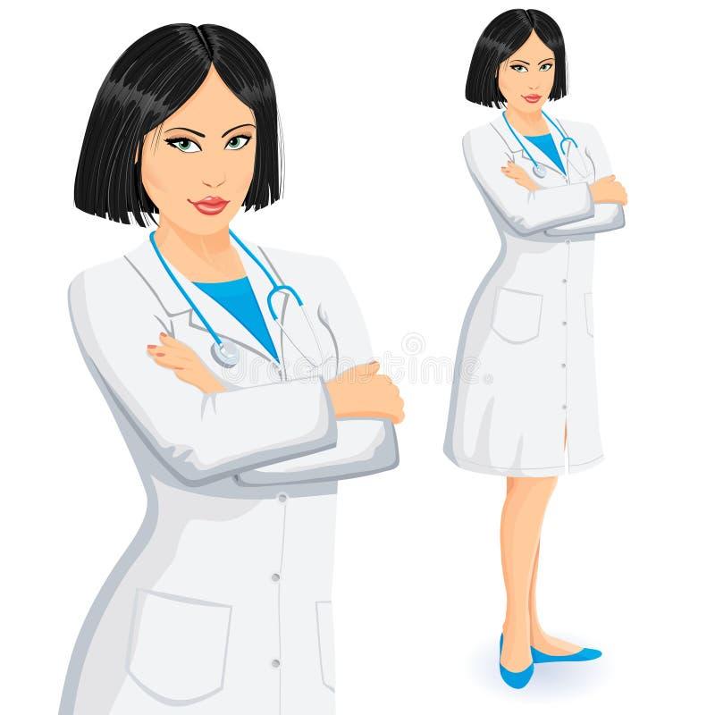 Doctor de sexo femenino stock de ilustración
