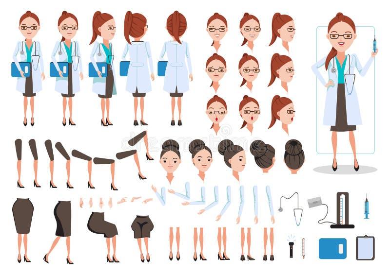Doctor de sexo femenino ilustración del vector