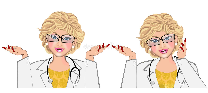 Doctor de sexo femenino aislado libre illustration