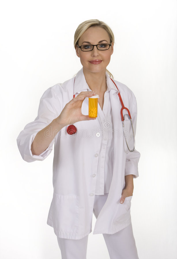 Doctor de sexo femenino atractivo foto de archivo libre de regalías