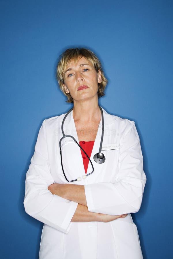 Doctor de sexo femenino caucásico. fotografía de archivo