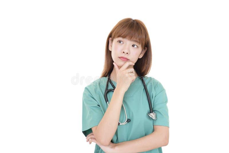 Doctor de sexo femenino preocupante foto de archivo