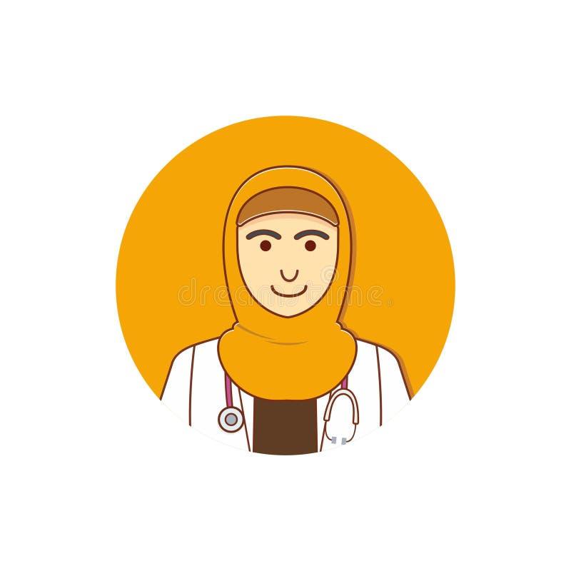 Doctor de sexo femenino Wear Hijab/doctor musulmán fotos de archivo