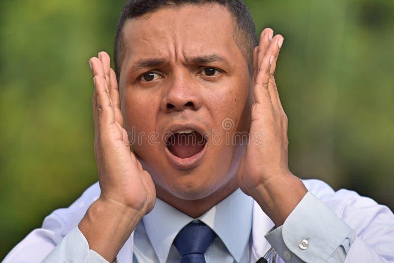 Doctor de sexo masculino asustado fotografía de archivo libre de regalías