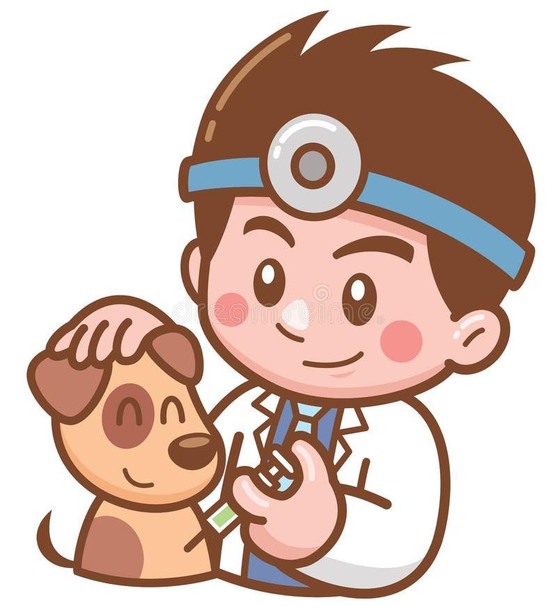 Doctor del animal dom?stico stock de ilustración