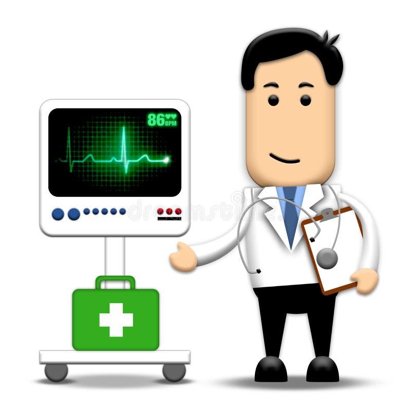 Doctor del corazón ilustración del vector