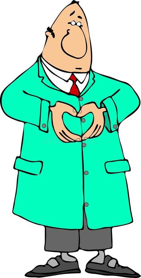 Doctor del corazón stock de ilustración