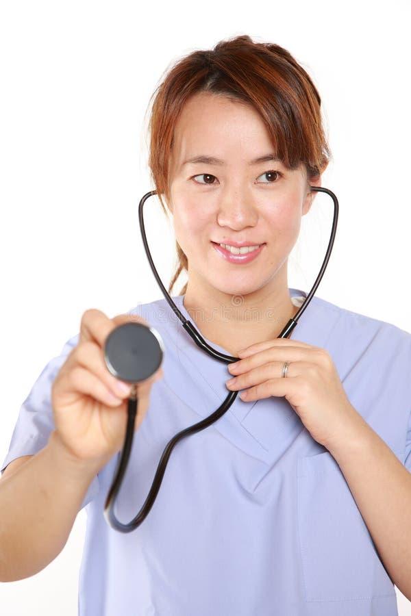 Doctor del Fema con el estetoscopio imagen de archivo