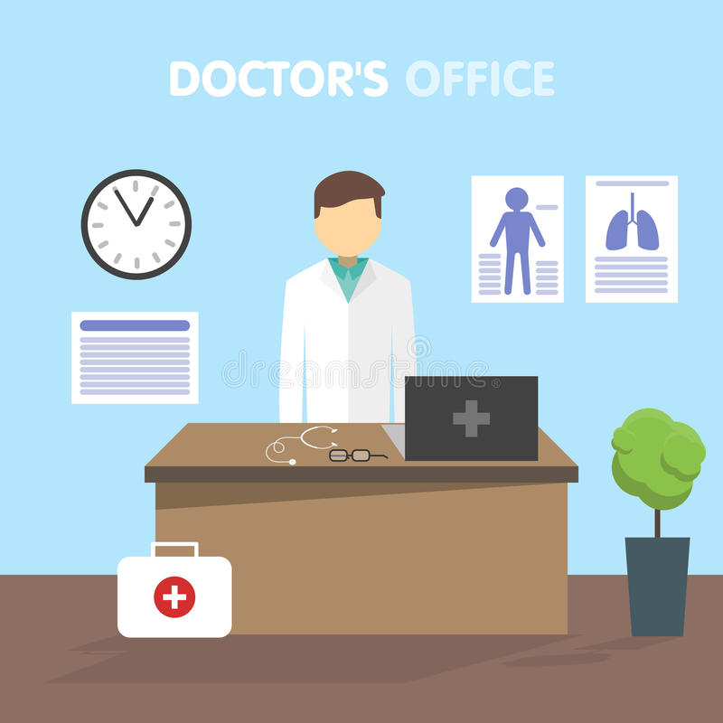 Doctor del lugar de trabajo, ejemplo del vector libre illustration