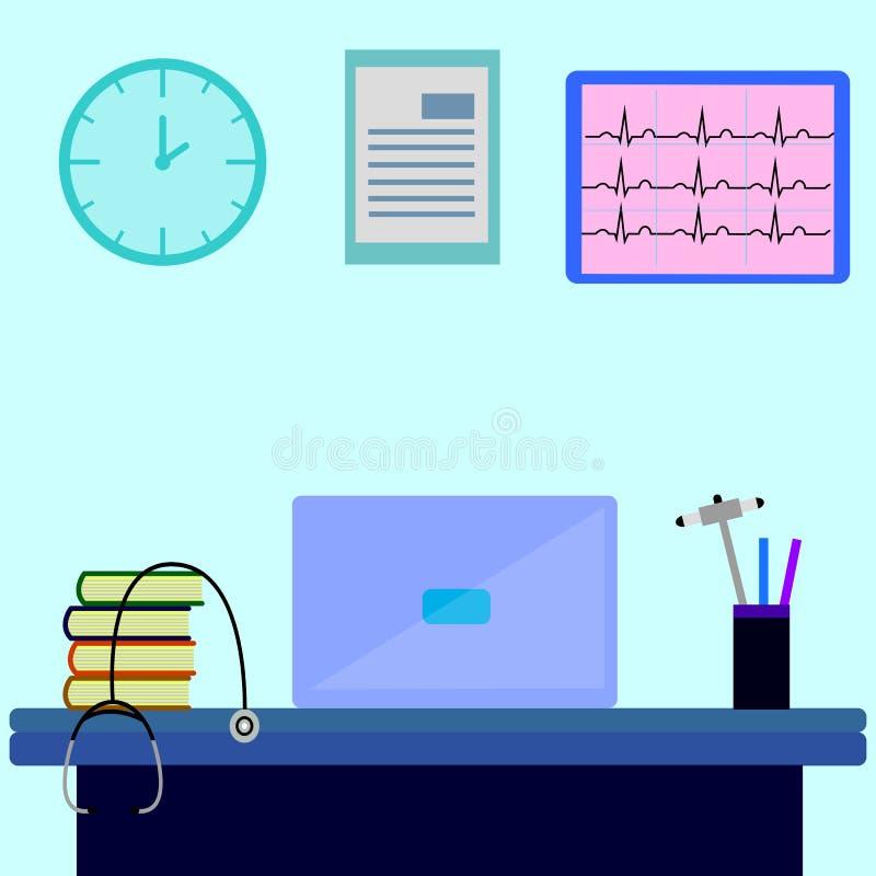 Doctor del lugar de trabajo, enfermera libre illustration