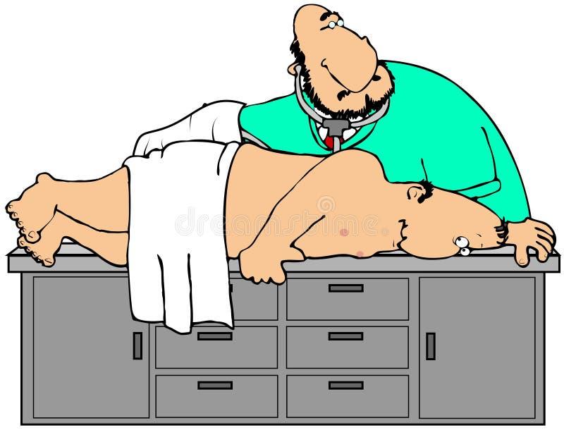 Doctor del tope stock de ilustración