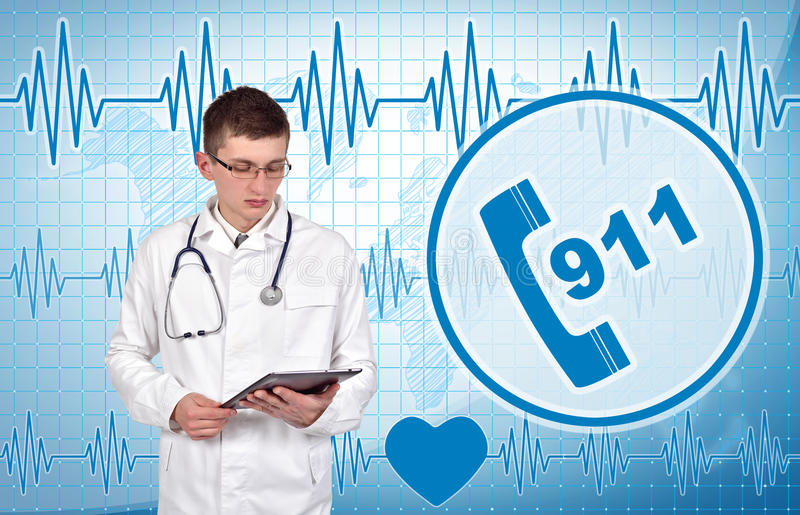 Doctor with digital tablet royalty free stock images
