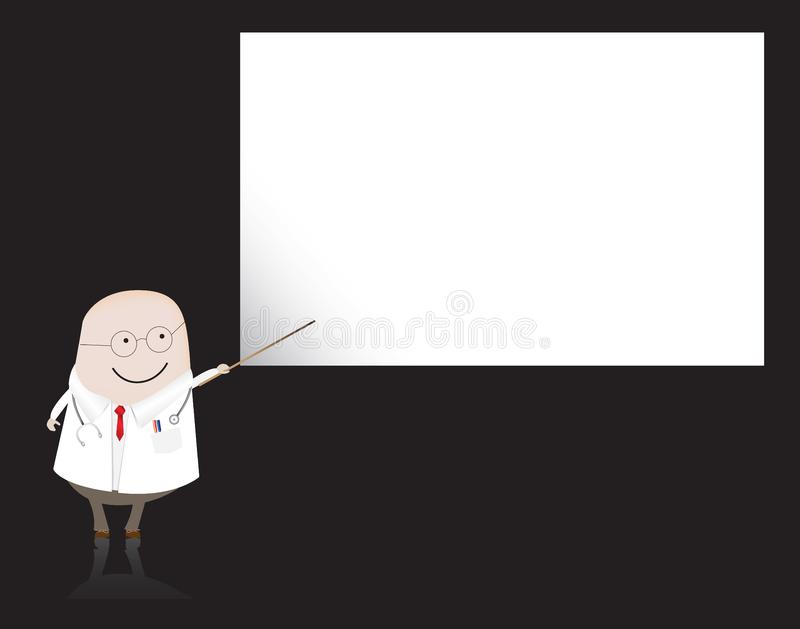 Doctor/ doctor pointing at blank board stock image