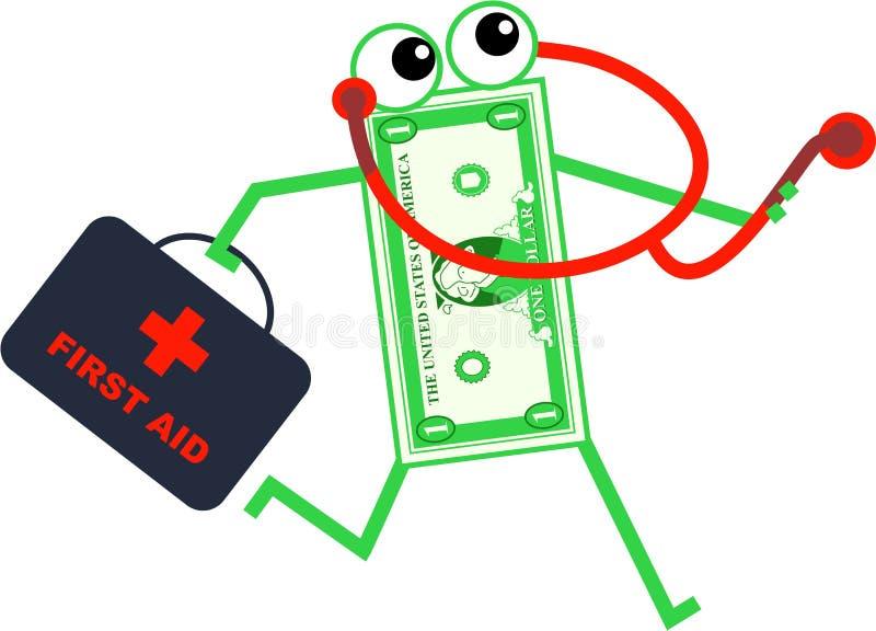 doctor dollaren stock illustrationer