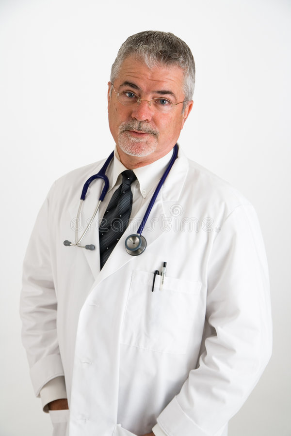 Doctor doubting patient royalty free stock image