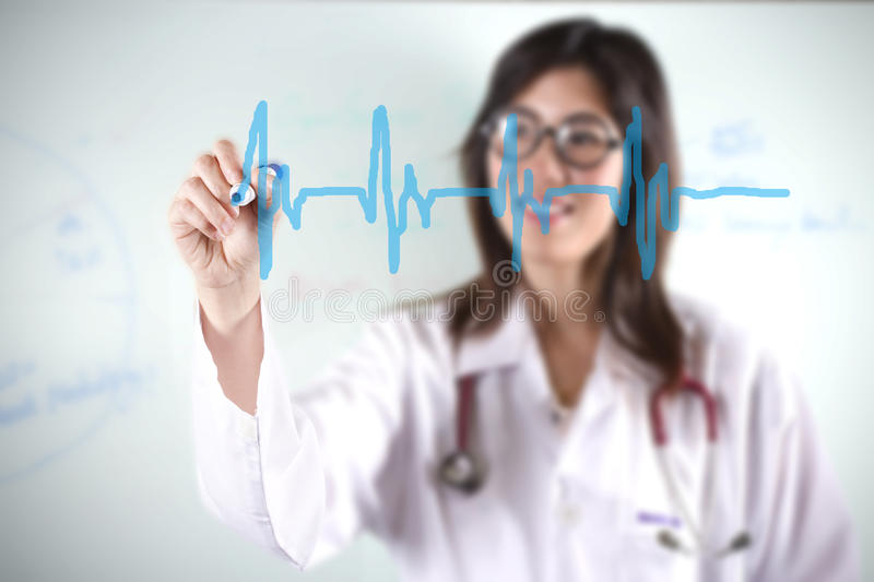 Download Doctor draw beat stock image. Image of beautiful, adult - 23943497
