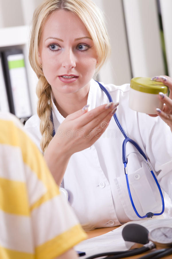 Download Doctor With Drug And Patient Stock Image - Image: 20459709